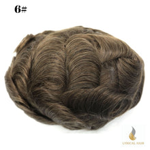 Load image into Gallery viewer, Mens Toupee Hairpiece Replacement System Fine Mono Size : 6x8