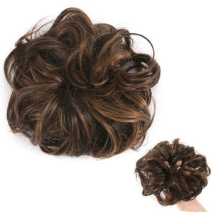 Real Hair Messy Bun Scrunchie Curly 1PCS For Women