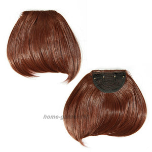 Straight Bangs Hair Extensions Heat Resistant Synthetic Hair-Apexhairs