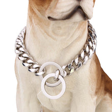 Load image into Gallery viewer, Dog Collar Gold Chain Leash 15mm Metal For Dogs Training Choke Chain