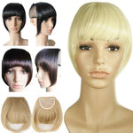 Straight Bangs Hair Extensions Heat Resistant Synthetic Hair