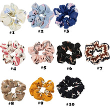 Load image into Gallery viewer, 20 Pack Flower Pattern Hair Scrunchies Elastic Hair Bands