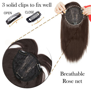 Hair Toppers With Clips For Thinning Crown Women