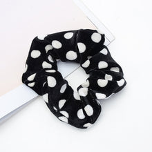 Load image into Gallery viewer, Leopard Dot Velvet Scrunchies Women Elastic Hair Rubber Bands Accessories For Girls Lady Tie Hair Rope Ponytail Holder Headdress