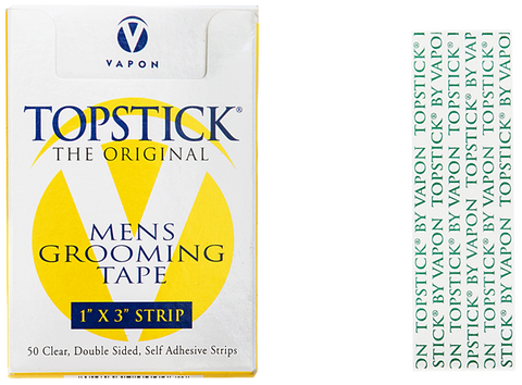 "Vapon Topstick Double Sided Tape 1"" x 3"" Straight Tape Strips TS150"