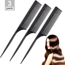 Load image into Gallery viewer, Teasing Combs With Stainless Steel Lift 3 Pack