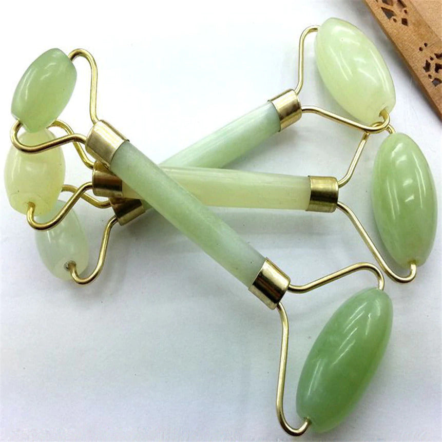 Bodycare - Double Head Facial Massage Roller Jade Face Slimming Body Head Neck