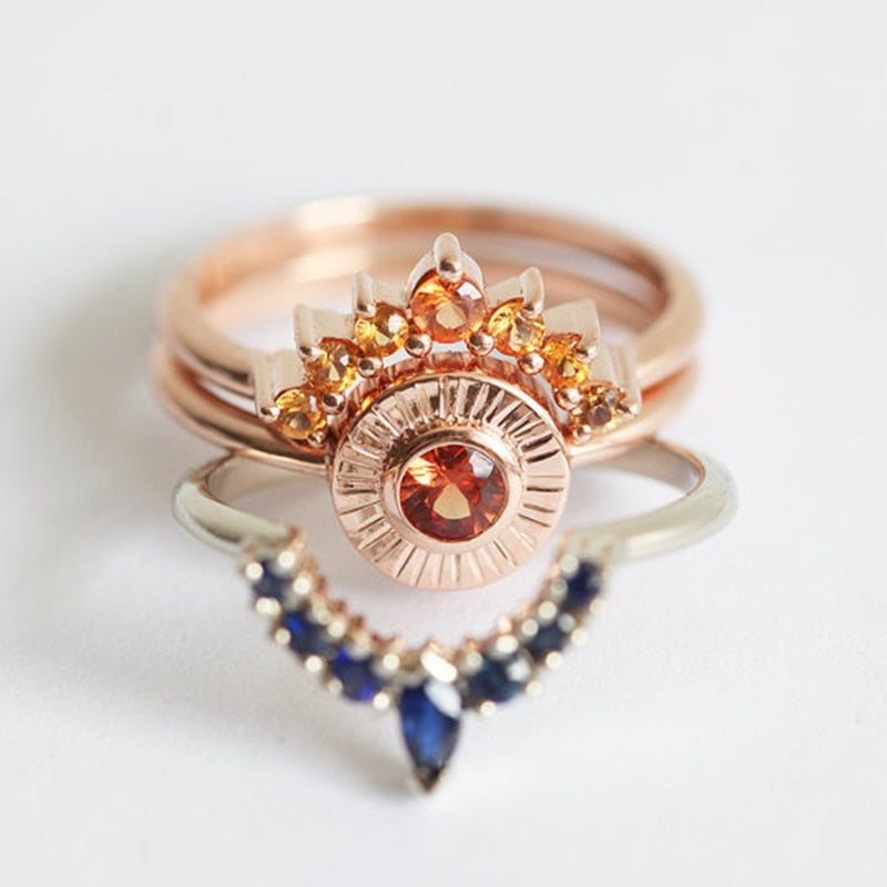 Ring - Bohemian Ring Set Stack