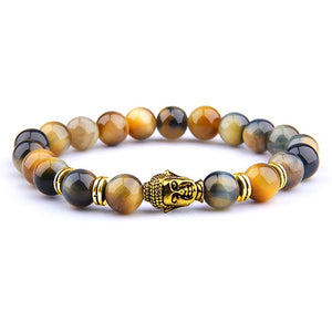 Bracelet - Hig Quality Fashion Bracelet Tiger Eye stone (20 variants)