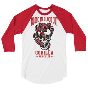 BLOOD IN BLOOD OUT 3/4 sleeve raglan shirt
