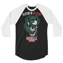 Load image into Gallery viewer, FLESH AND BLOOD 3/4 sleeve raglan shirt