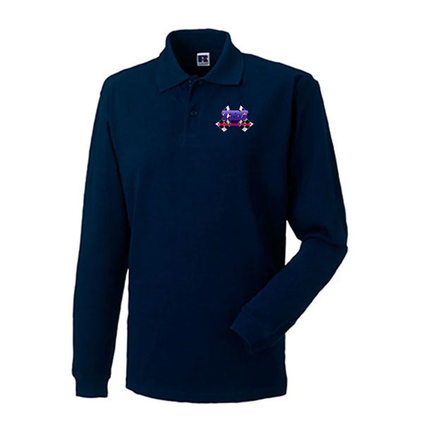 TRG Navy Long Sleeve Polo Shirt