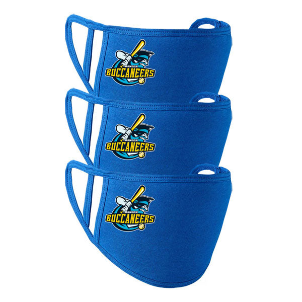 BANGOR BUCCANEERS Face Mask 3 Pack