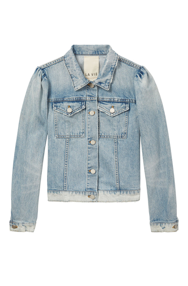 La Vie Classic Denim Jacket in Chantal Wash