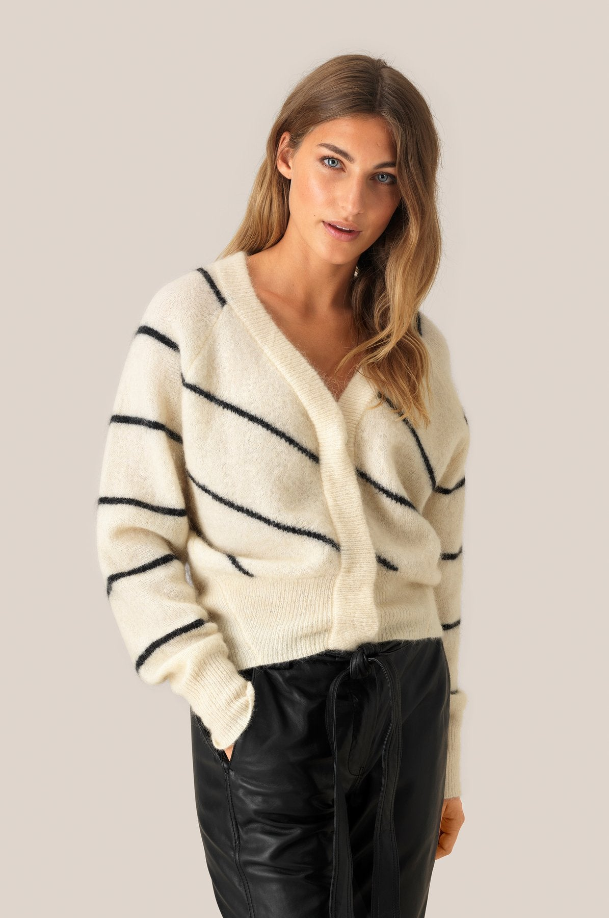 Brooke Knit  Stripe boxy Cardigan