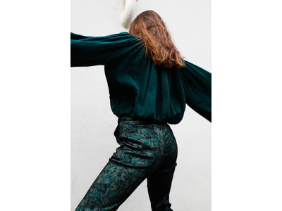 Vince Green Pattern Pants