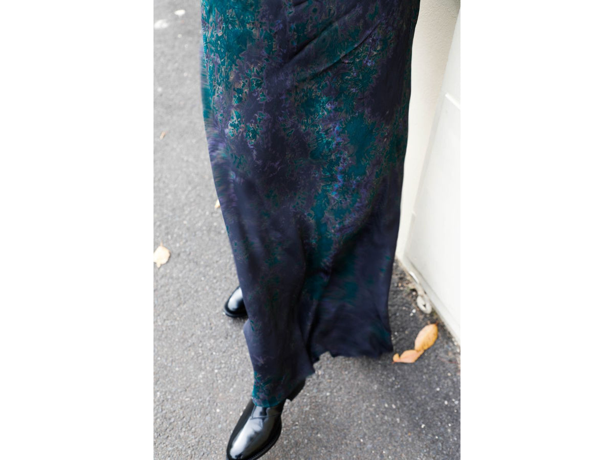 Makari Long Print Skirt