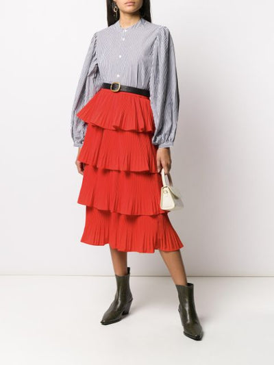 Vivan Frill Red Skirt