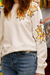 Beige Embroided Sweatshirt