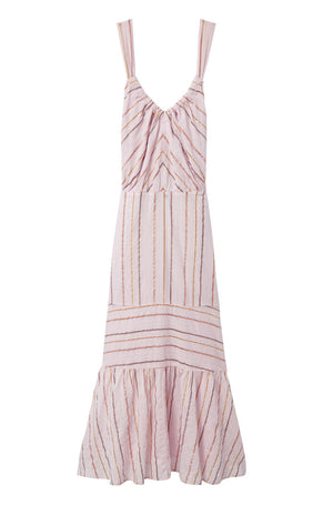 La Vie Lurex Striped Dress