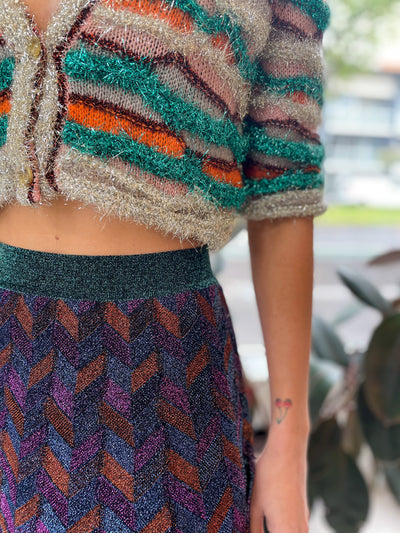 Multicolour Cropped Cardigan