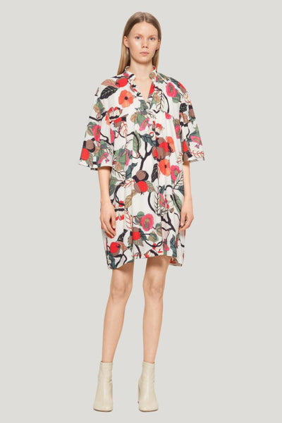 Apia Dress - Cream Floral Branch