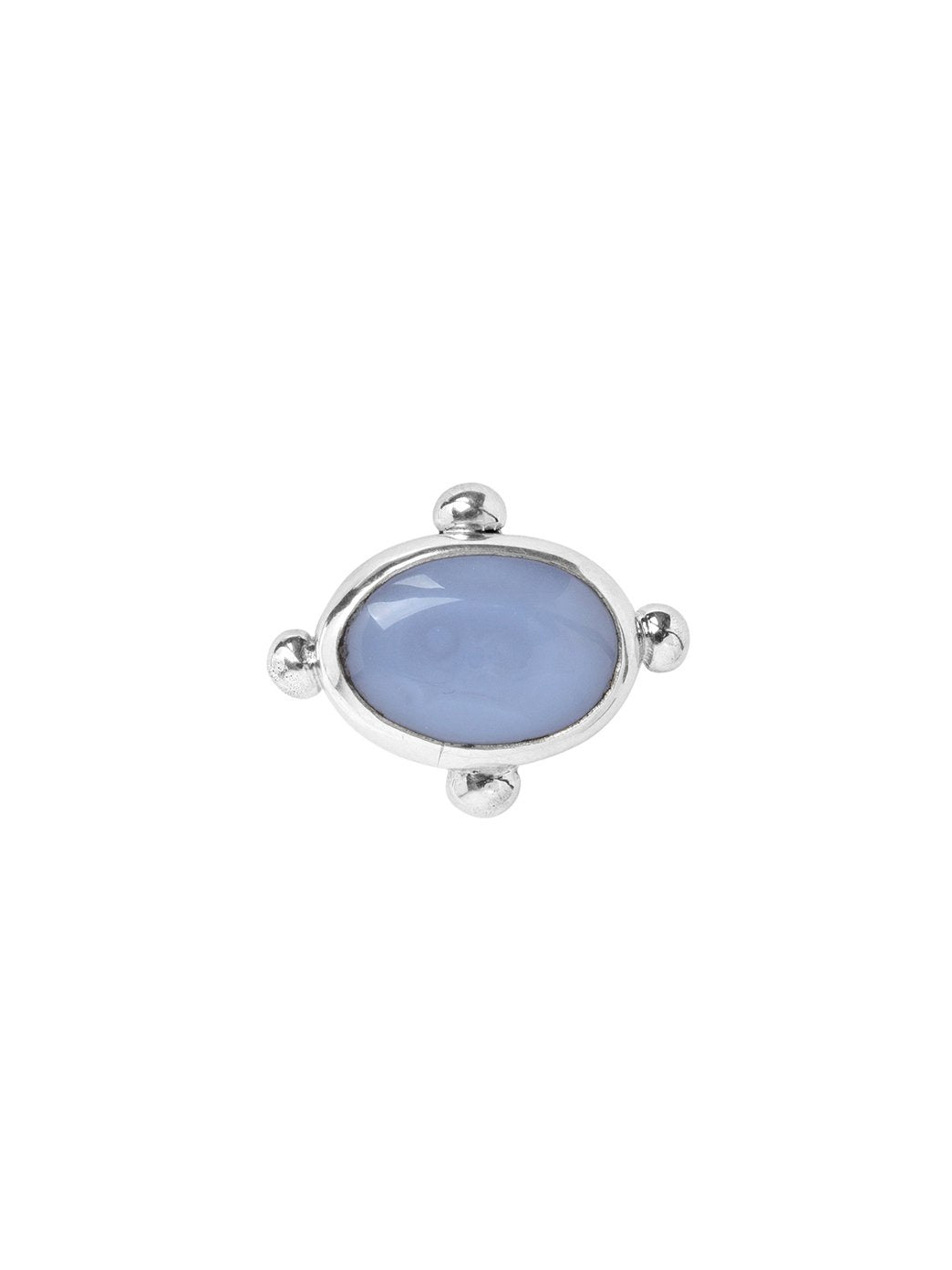 Oval Fish Band Ring Chalcedony