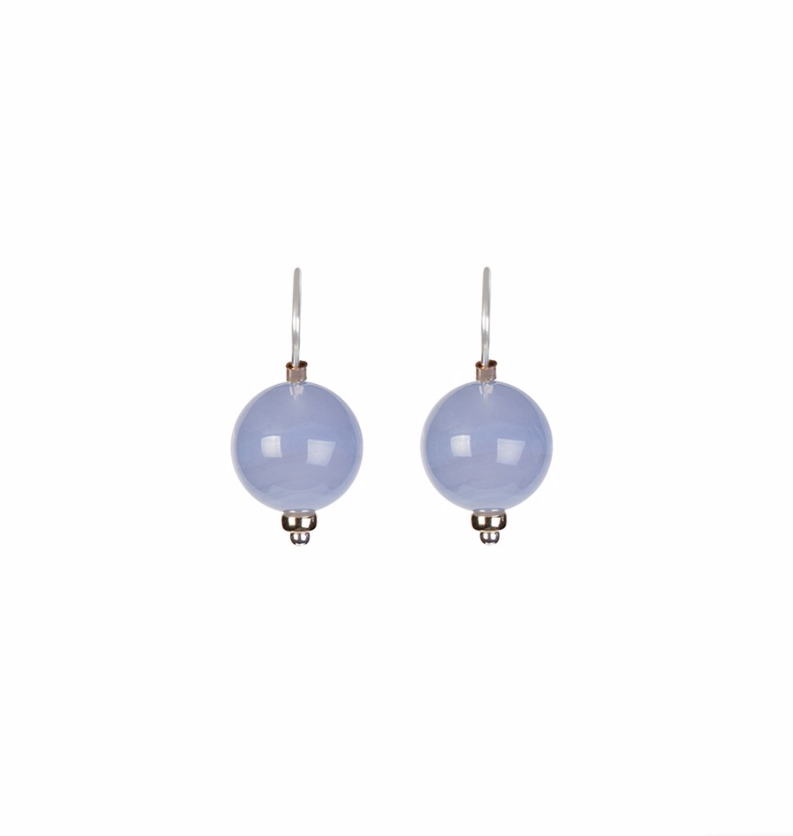 Ball Earring Chalcedony