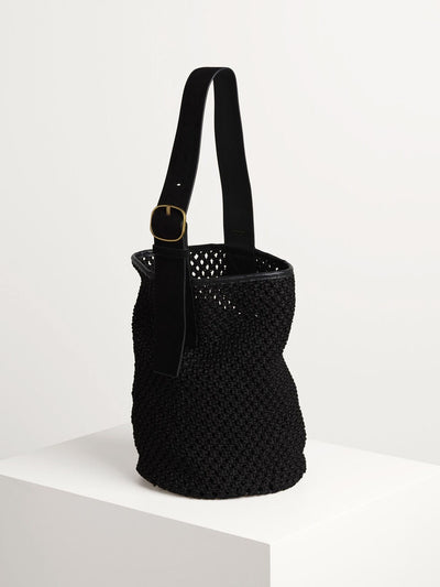Liv Bucket Black Crochet