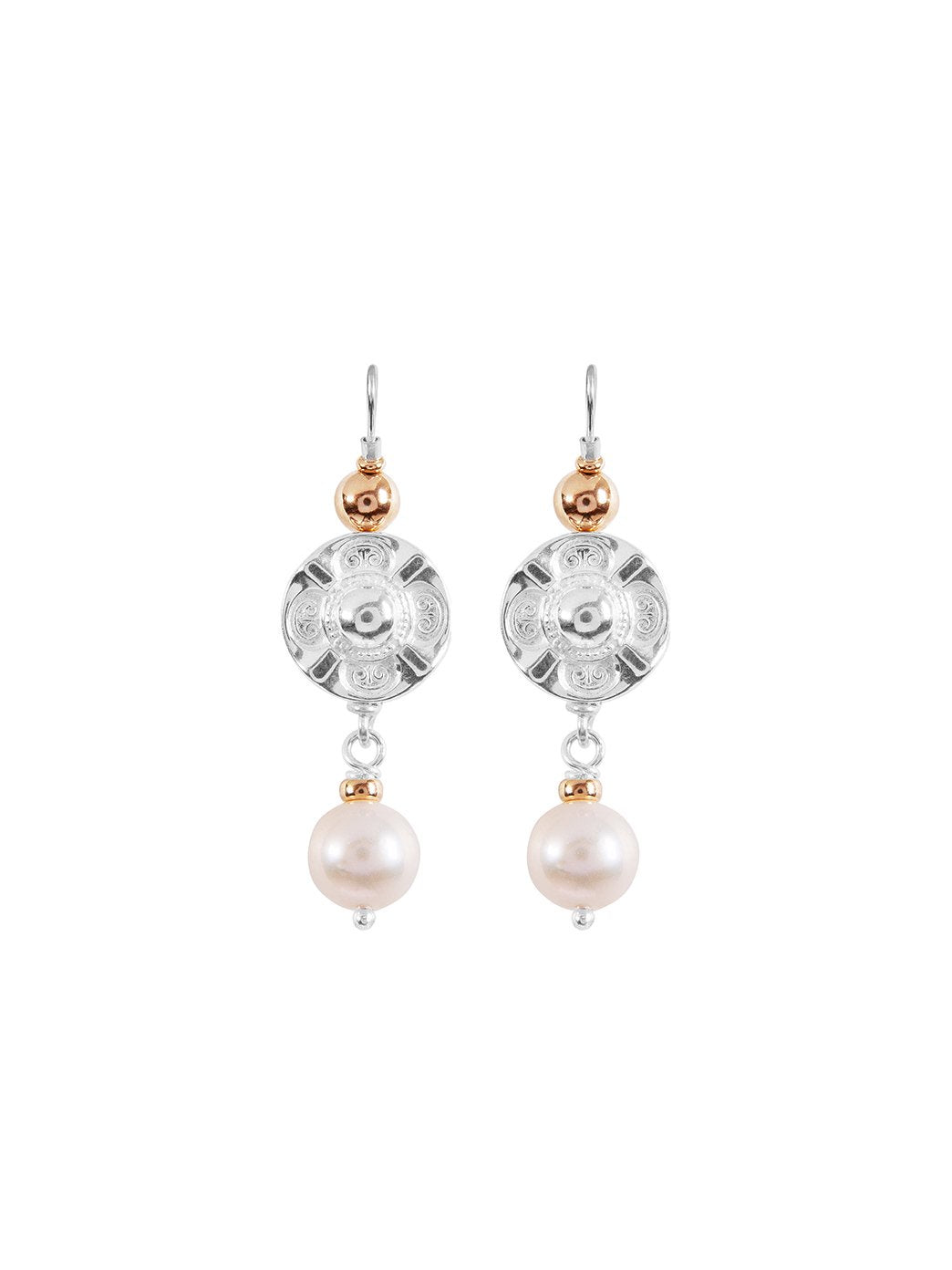 Vic Disc Pearl Earrings