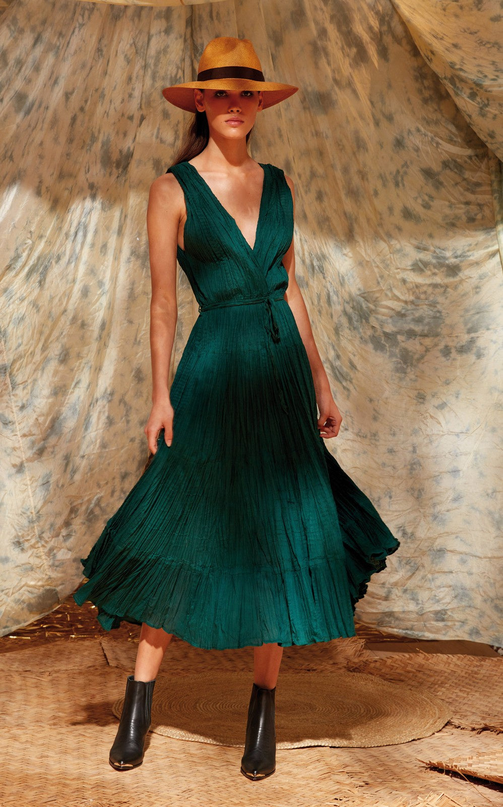 Colchiquqe Emerald Dress