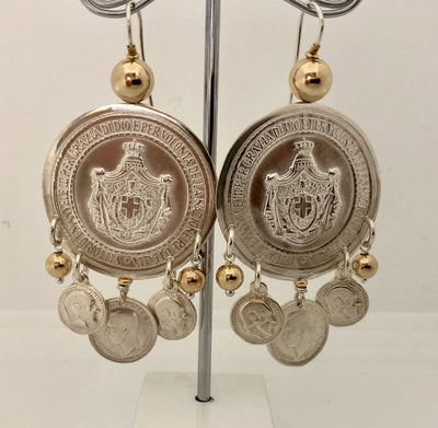 Monster Gypsy Coin Earring