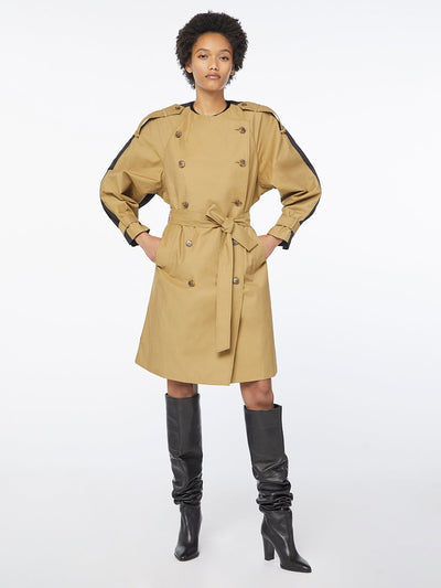 Colorblocked Trench Cargo Multi coat jacket