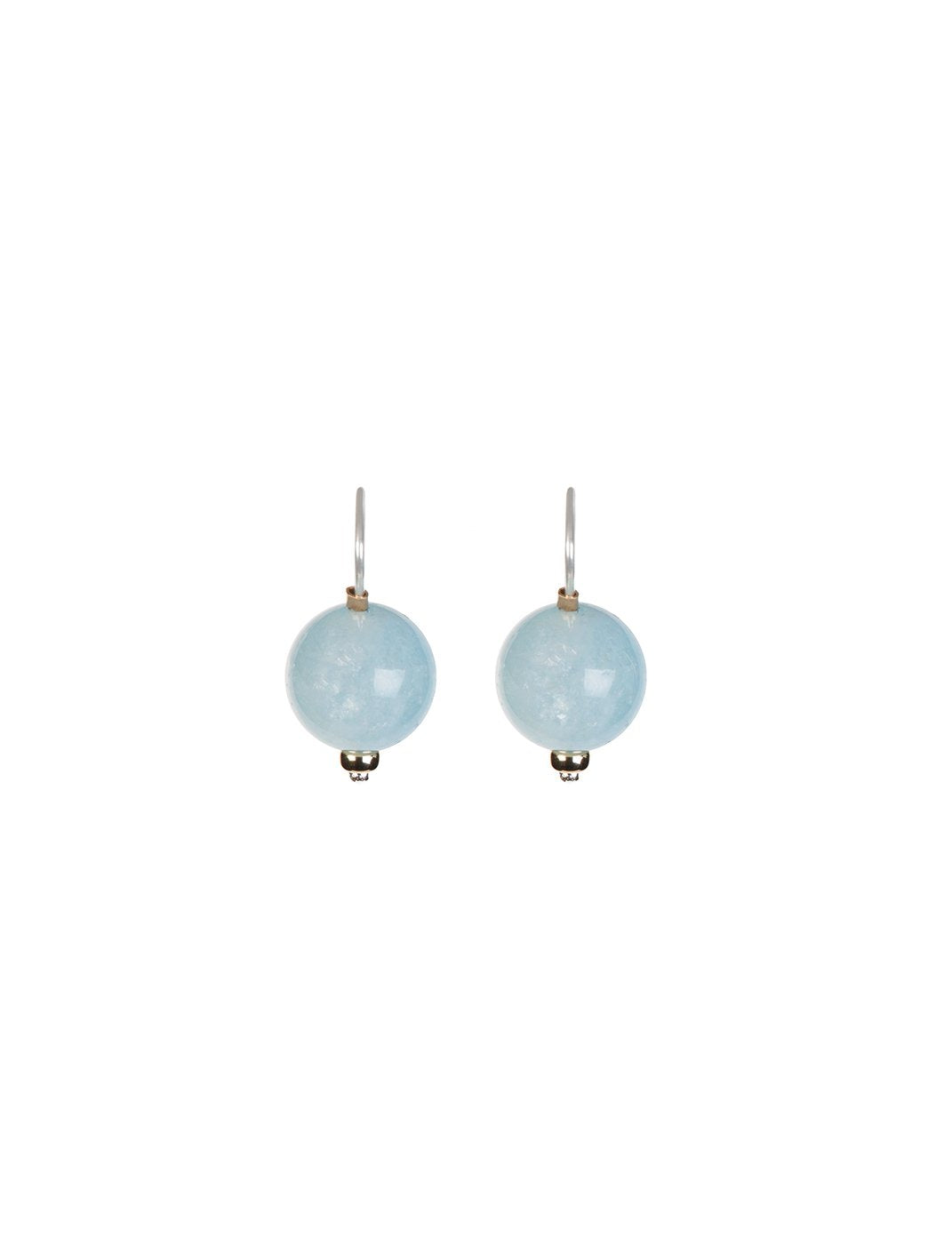 Ball Earrings - Aquamarine