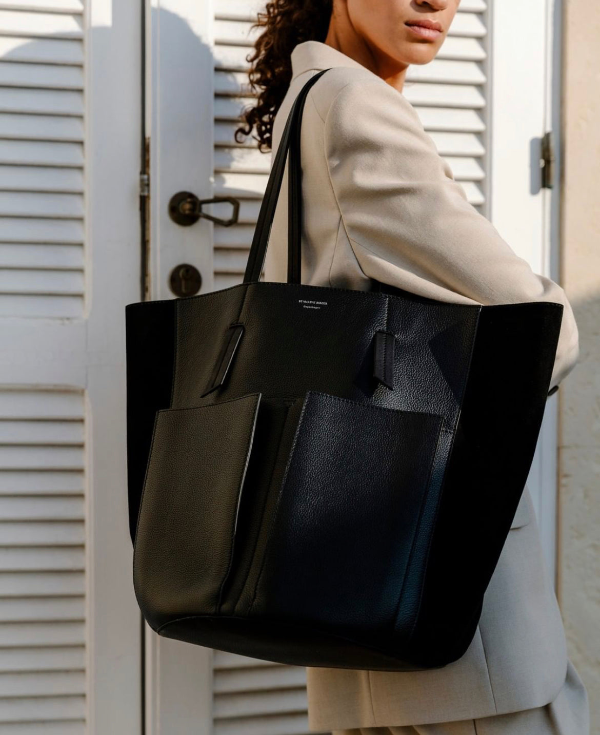 Tess Tote Leather Black