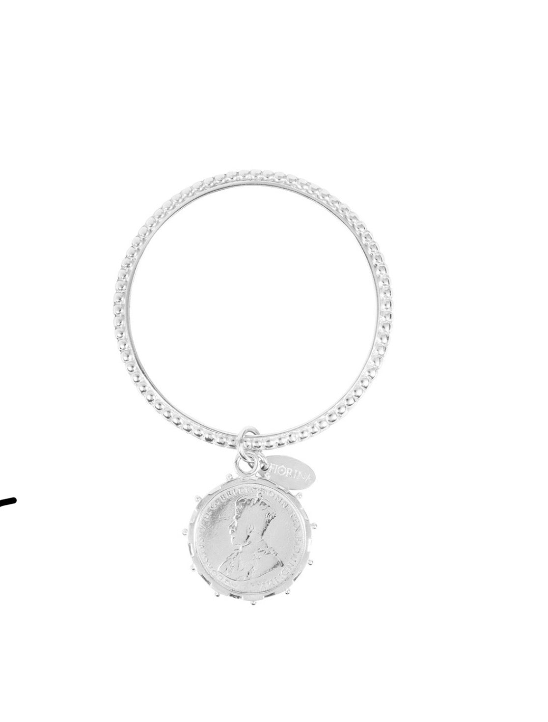 Alia Bangle with Silver Coin