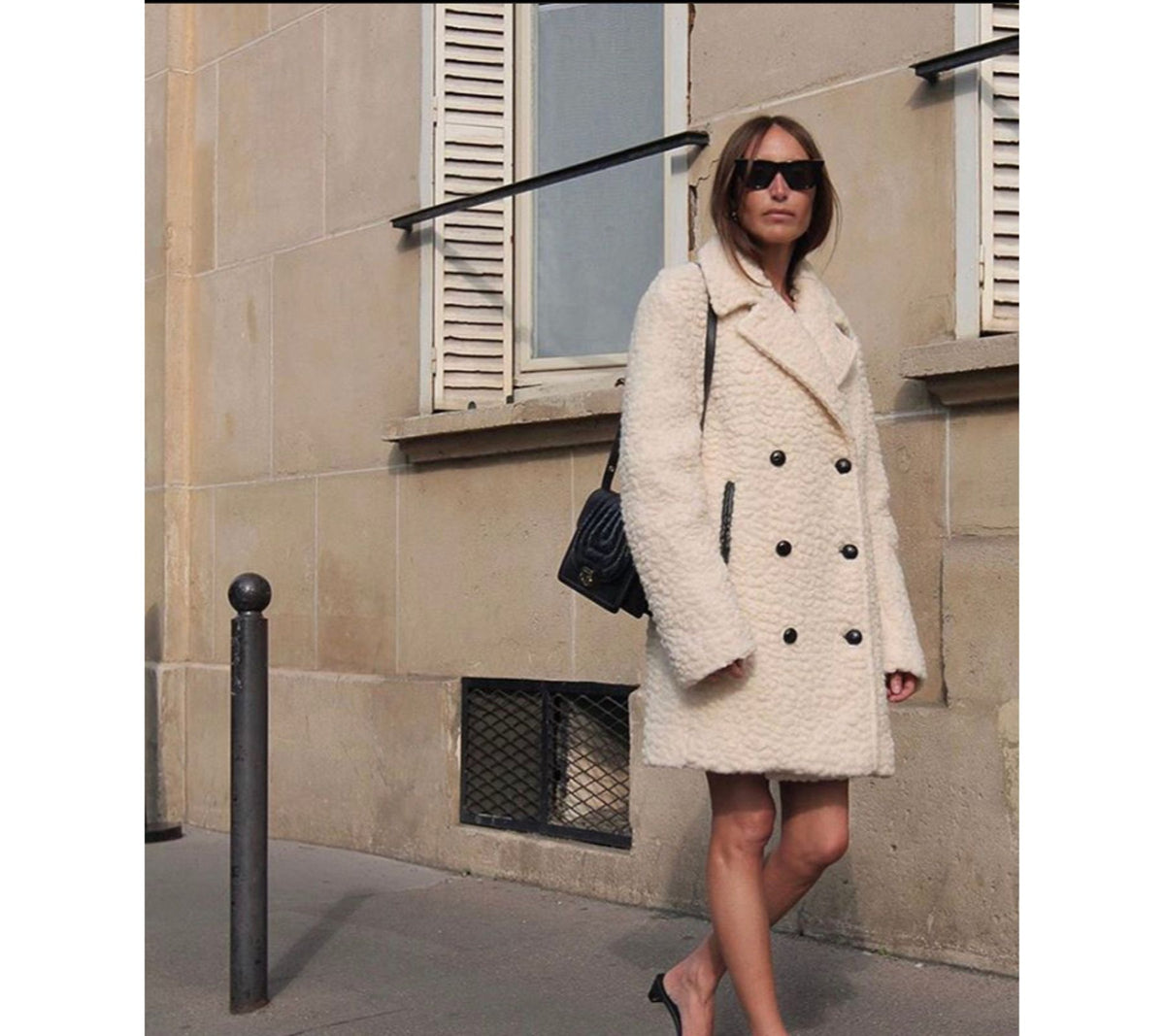 Peacoat Cream Day Coat