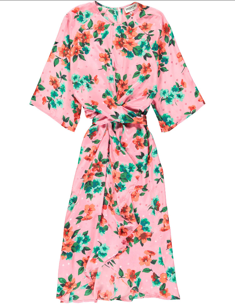 Vayen Knot Floral Dress