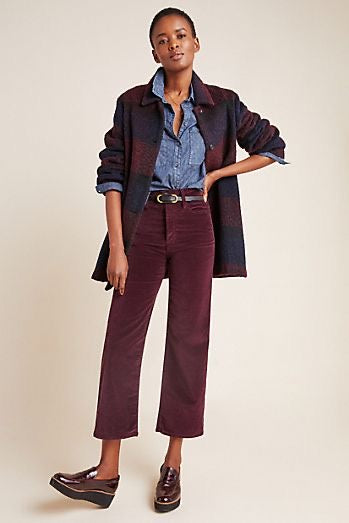 Etta Wide Leg Crop Pant - Boysenberry