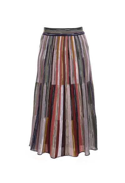 Printed Stripe Skirt