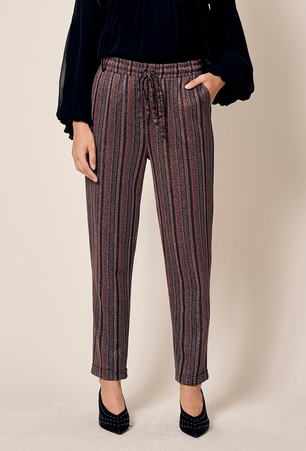 Lurex Striped Pants