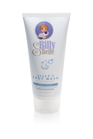 Organic Natural Billy & Belle Body Wash Apple and Blueberry Babies and Children