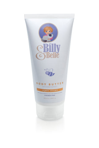Organic Natural Billy & Belle Body Butter for Babies and Children