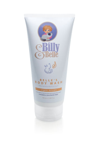 Organic Natural Billy & Belle Body Wash Papaya for Babies and Children
