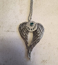 Load image into Gallery viewer, Angel wings necklace - Remembrance jewelry - Angel