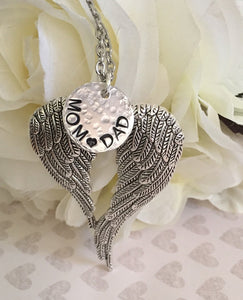 Angel wings necklace - Remembrance jewelry - Angel