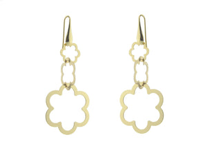 Sterling Silver Earrings Dangling Gold PLated