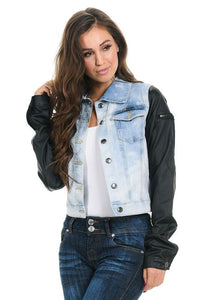 M.Michel Women's Denim Jacket - Style 492