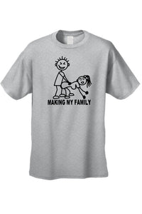 Men's/Unisex Making My Family Short Sleeve T-Shirt