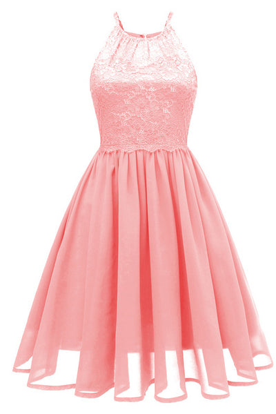 Pink Cut Out A-line Homecoming Dress